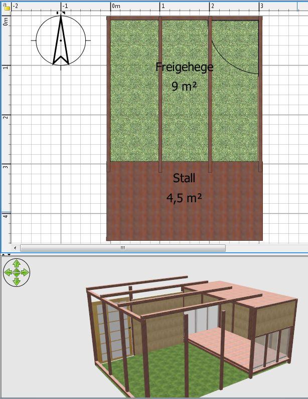 Grundriss und frühes 3D-Modell